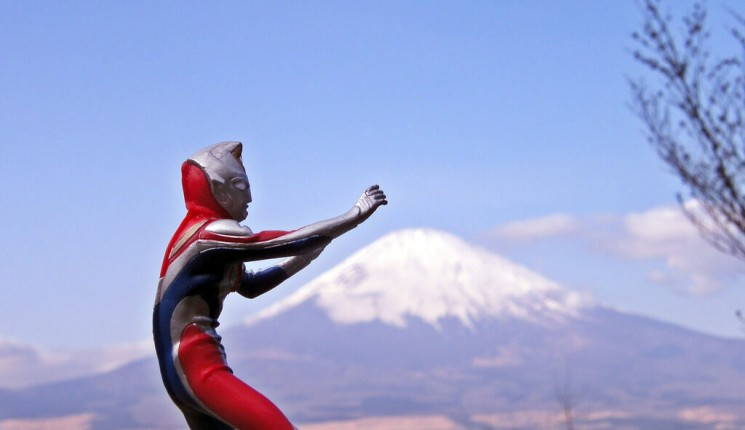 Japonia: Ultraman + Mt. Fuji = JAPAN